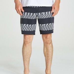 Billabong stripe board shorts 34